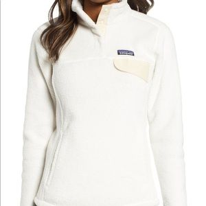 Patagonia White Re-Tool Snap-T Fleece Pullover